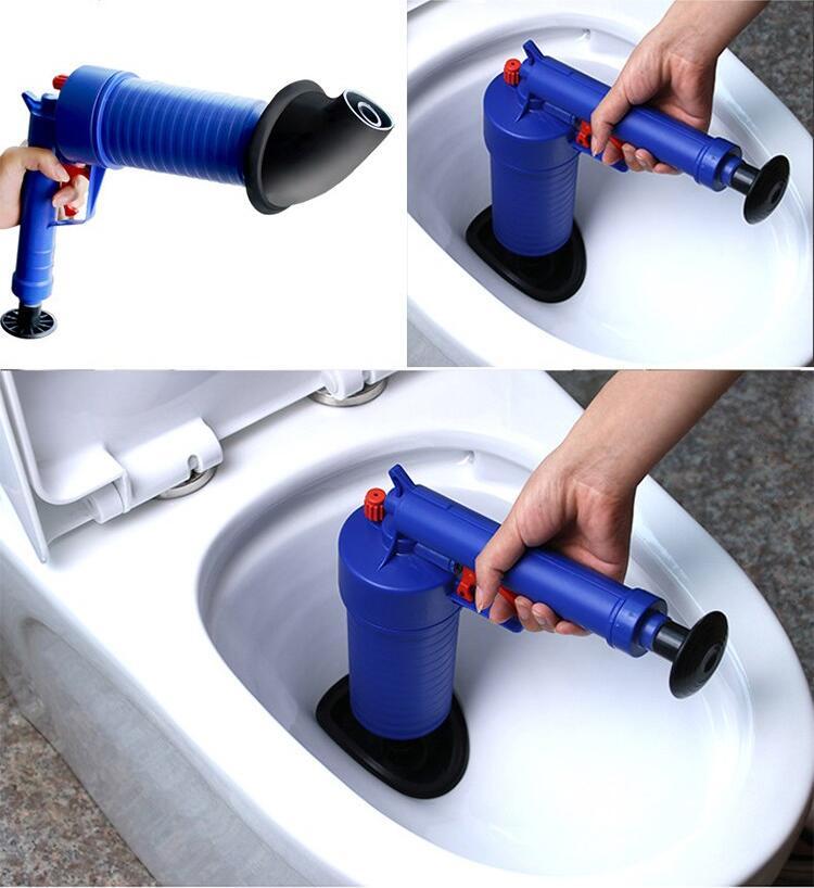 Air Power Drain Blaster Gun And High Pressure Sink Plunger And Cleaner Pump For Bathroom 6