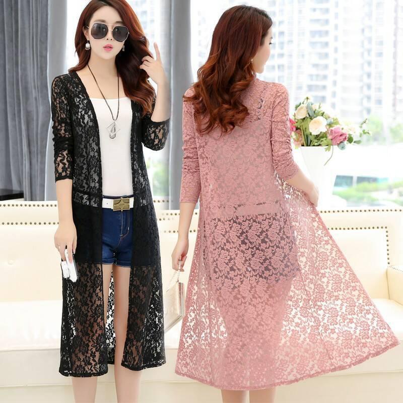 2019 Beach Summer sexy Women Casual Boho Kimono Cardigan Lace Chiffon Loose Floral   Blouse     Shirt   Plus Size Tops Beachwear