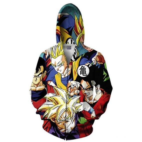 COYOUNG Brand New Hoodies Men 3D Print Dragon Ball Z Son Goku Man Women Spring Fall Casual Fashion Zipper Top Coat Sweatshirt