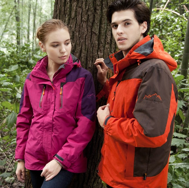 ФОТО Outdoor outdoor jacket lovers design three-in fleece outdoor jacket twinset male female hiking clothing  =YcfM5