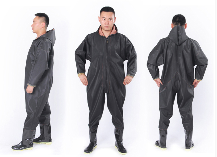 1MM Waterproof Fishing Breathable Chest Waders Respirant Shoes Fish Overalls Boots Stren ...