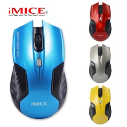 iMICE 2.4G Wirless Gaming Mouse Blue Black Color 1600DPI Computer Mouse PC Laptop Mice For Office Work Gamer With Retail Box