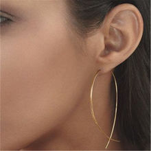 New Brand Simplicity Fish Shaped Design Hoop Copper Wire Handwork Stud Earrings for Women Girl Gift Jewelry Bijoux wholesale(China)