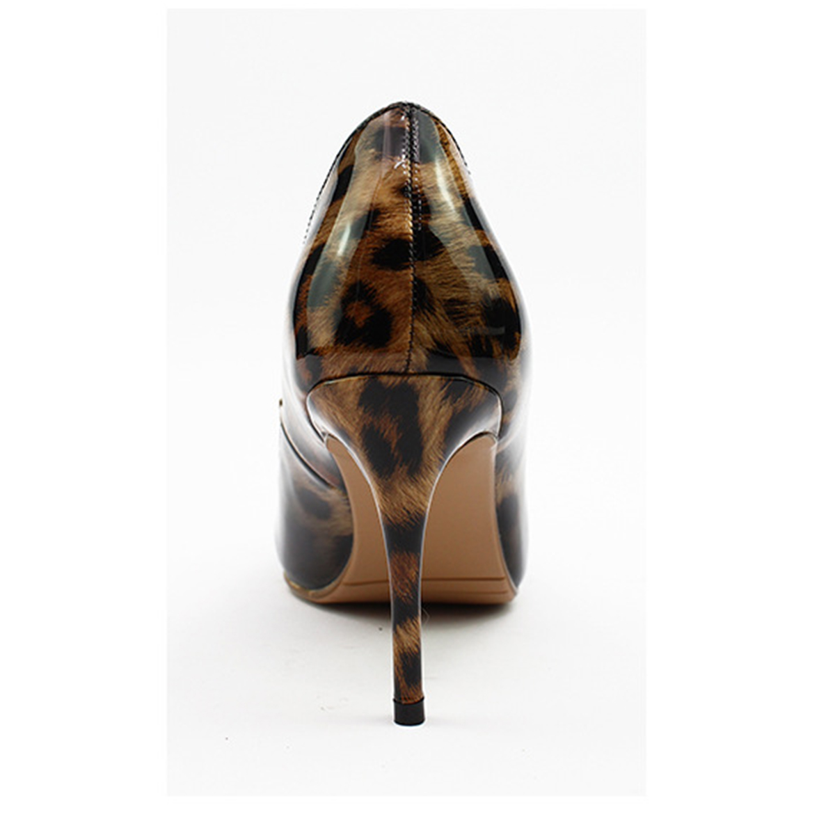 Aiyoway 2019 Women Shoes Ladies Pointed Toe High Heels Pumps Leopard Autumn Spring Party Shoes Casual Slip on Patent Leather in Women 39 s Pumps from Shoes