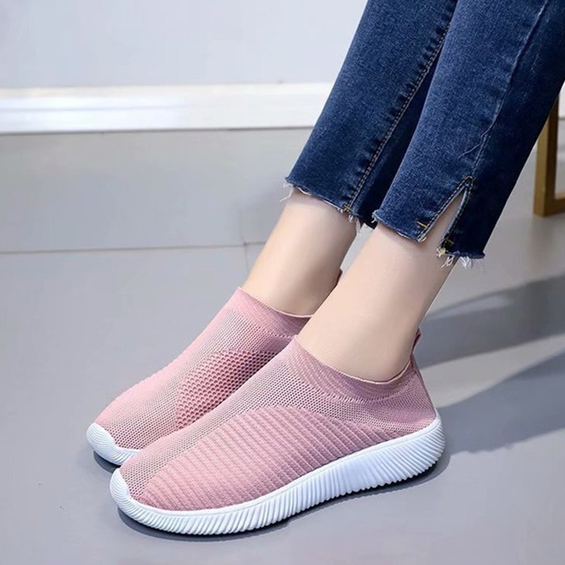 AARDIMI Plus Size 35-43 Breathable Womens Sneakers Knitting Sock Casual Shoes Stretch Fabric Female Footwear Zapatos MujerAARDIMI Plus Size 35-43 Breathable Womens Sneakers Knitting Sock Casual Shoes Stretch Fabric Female Footwear Zapatos Mujer