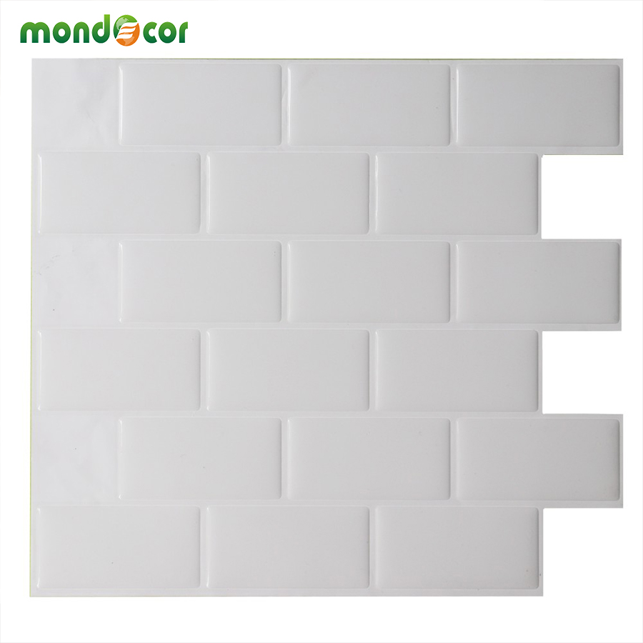Peel And Stick Wallpaper In Bathroom: 3D Brick Subway Mosaic Tile Peel And Stick Self Adhesive
