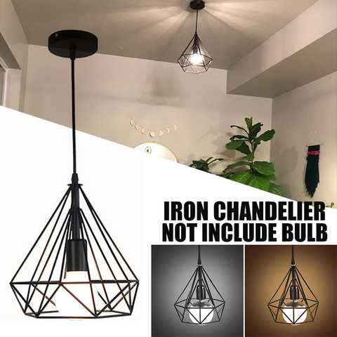 luminaria de teto rustica industrial vintage de 20cm montagem rustica estilo nordico lampada de metal
