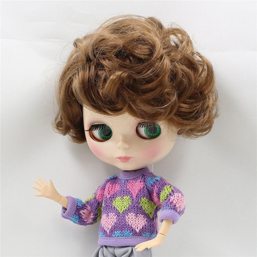 Darmowa wysyłka fabryka Blyth doll lalka 1/6 lalka chłopiec BL9158 brązowe kręcone włosy złącze męskie ciało zabawki prezent około 30cm w Lalki od Zabawki i hobby na  Grupa 2