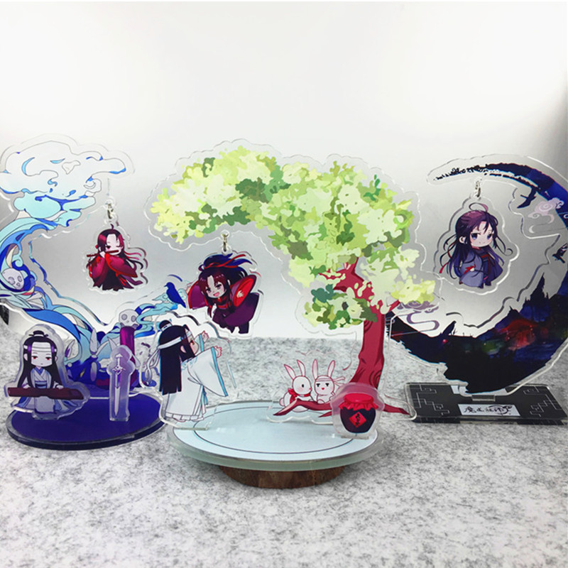 Anime Mo Dao Zu Shi Acrylic Stands Wei Wuxian Lan Wangji Figure Model Plate Holder Anime Around Fans Gift