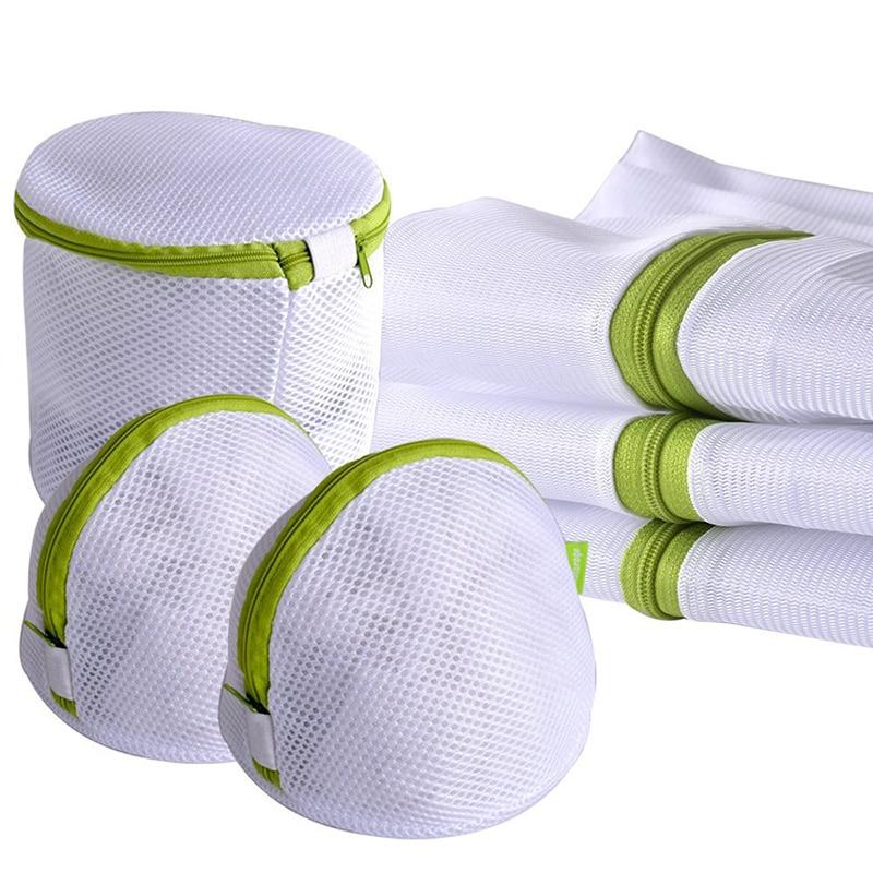 Enipate 6pcs/set Laundry Bag Drawstring Bra Underwear Products Laundry Bags Useful Mesh Net Bra Wash Bag Zipper Laundry Bag