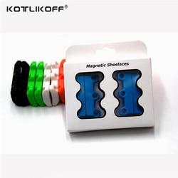 Kotlikoff 1 pair 6 colour shoelaces magnetic shoelace buckle lazy closures lacet chaussure shoe laces no.jpg 250x250