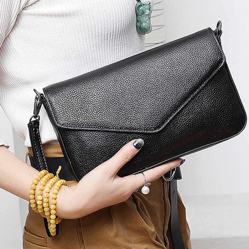 2018 Fashion Genuine Leather Women Clutch bag Shoulder Bag Party Evening Bags Clutch Purse Female Crossbody Bag Wallet Handbags women handbags new fashion pu leather party clutch bags soft fold over phone purse lady shoulder bag superfine messenger bag