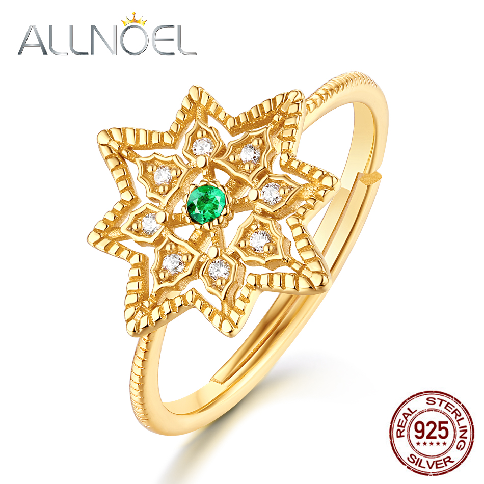 Allnoel 100% 925 Sterling Silver Rings For Girls 1.5Mm Emerald Resizeable Lace Hole Ring Marriage ceremony Engagement Items Advantageous Jewellery