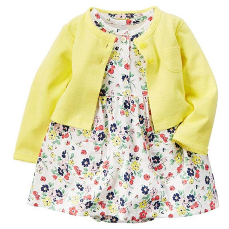 2018 kids baby girl dress ,shirt ,bodysuit ,bebes girl clothes set ,summer spring shawl tippet .newborn one-piece girl dress set