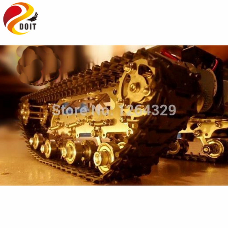 Official DOIT Metal Tank Car Chassis/All Metal Structure,Big Size,Load Large/Obstacle-surmounting Tank /Mounting Interface big tank car chassis tracked car weight 8 5kg load carry more than 30kg obstacle surmounting robot parts for remote control