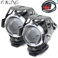 Motorcycle LED Headlight 125W 3000LM U5 Waterproof Driving Spot Head Lamp Fog Light Switch For Kawasaki NINJA 250SL NINJA250SL