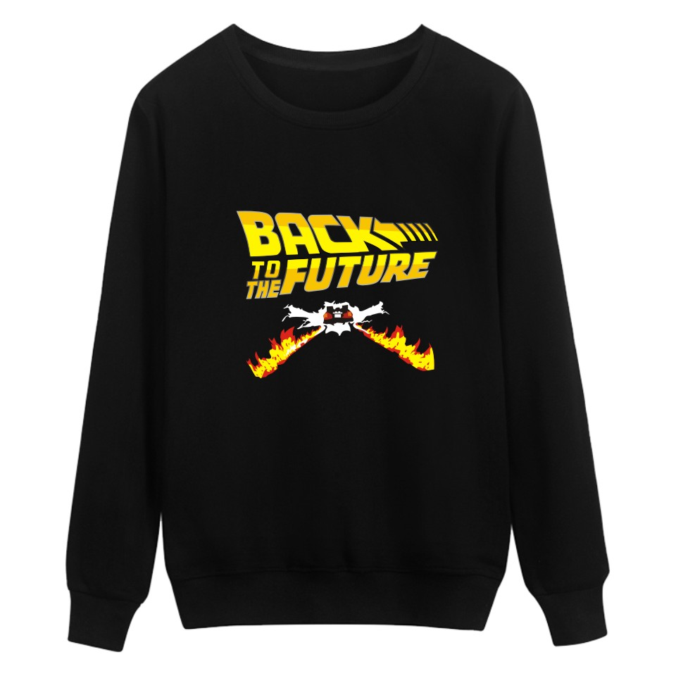 Back To The Future Capless Sweatshirt Men Hip Hop Fashion Winter Mens Hoodies And Sweatshirts Funny Film Black Casual Clothes
