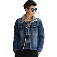 2018 New denim parka men autumn winter thickening winter jacket men Slim large size denim jacket cotton shirt fashion jeans coat
