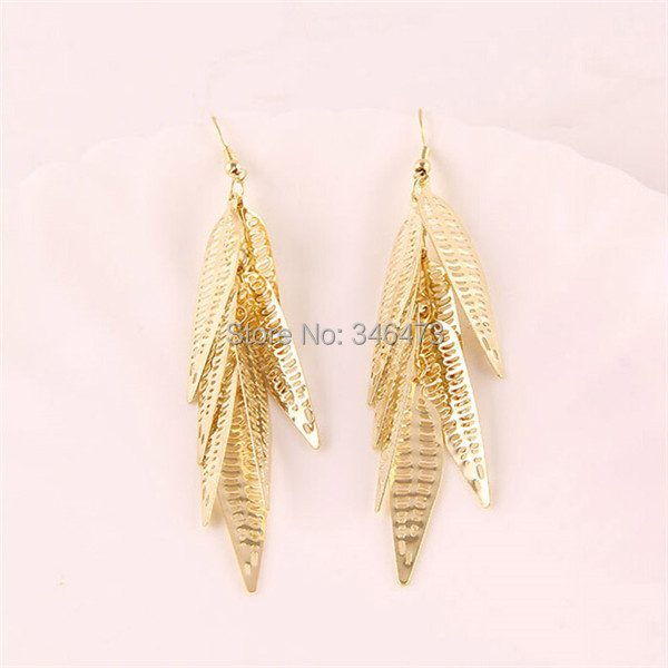 Free Shipping New Arrival Fashionable 22k Light Weight Gold Earring Arabic Designs