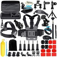 AAAE Camera Accessories for 3GoPro Hero 2018 Session/6 5 Hero 4+ SJ4000/5000/6000/AKASO/APEMAN/DBPOWER/And S ony Sports D