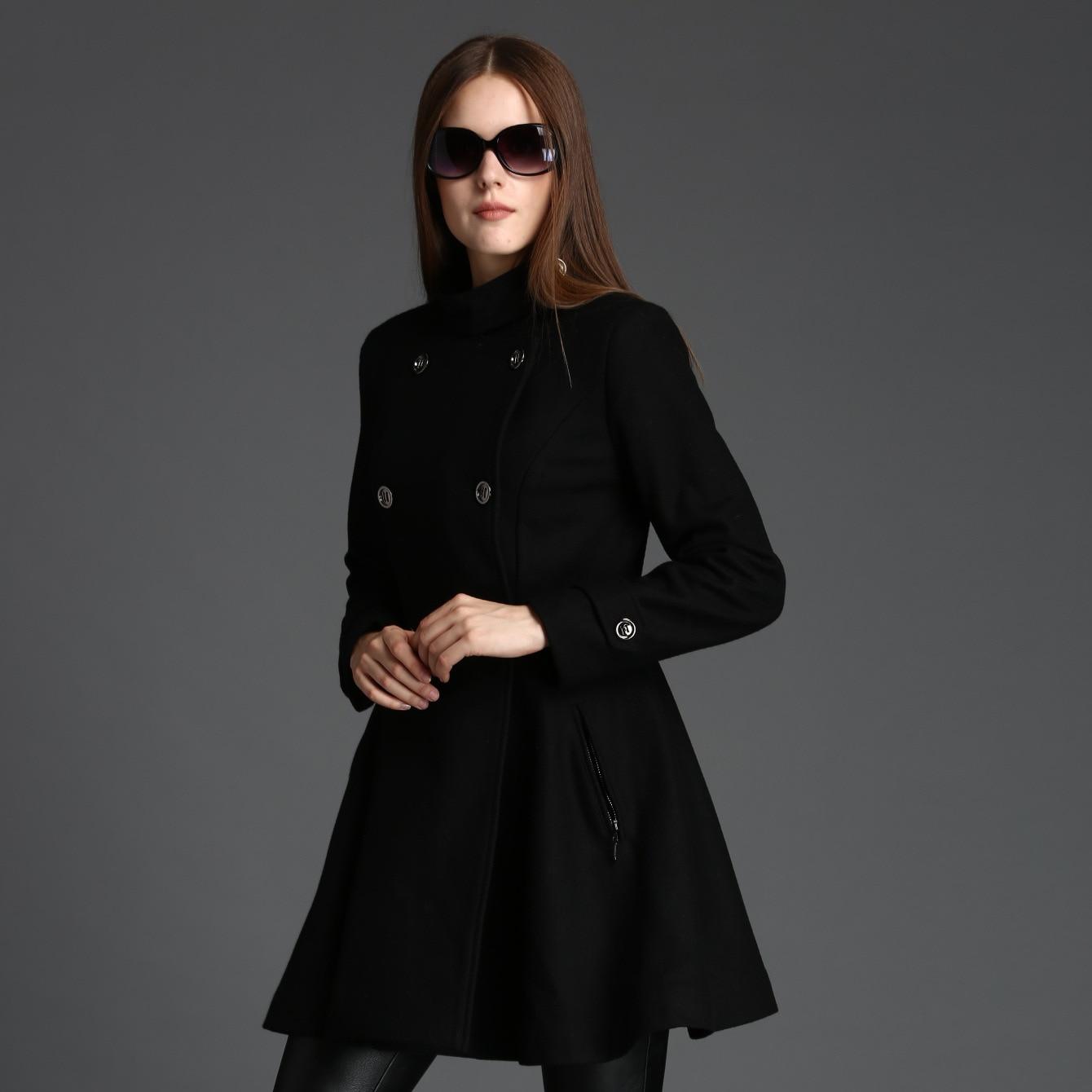 Aliexpress.com : Buy 2016 Classic Fit Winter Black Wool Skater ...