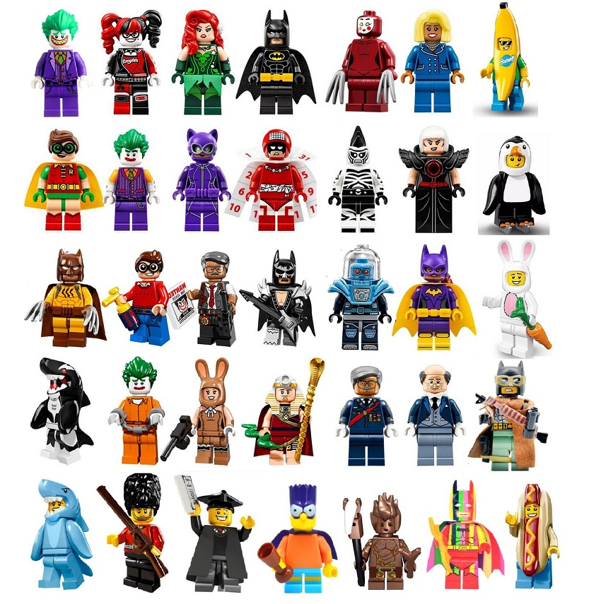 Super Heroes Rabbit Simpsons Batman Nightmare Catman Poison Ivy March Harriet Harley Quinn Dick Grayson Buiding Blocks Kids Toys heroes