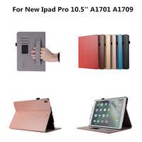 Luxury Retro PU Leather Hard Plasic Back Flip Case For Apple New IPad Pro 10 5