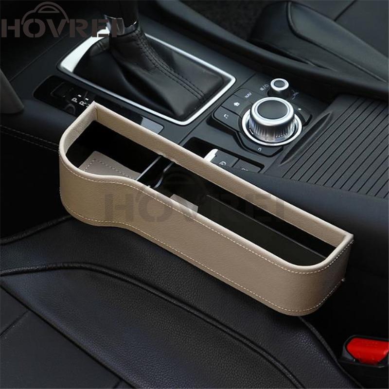Car Seat Gap Slit Filler Catch Catcher Cup Holder Box PU Coin Storage Organizer