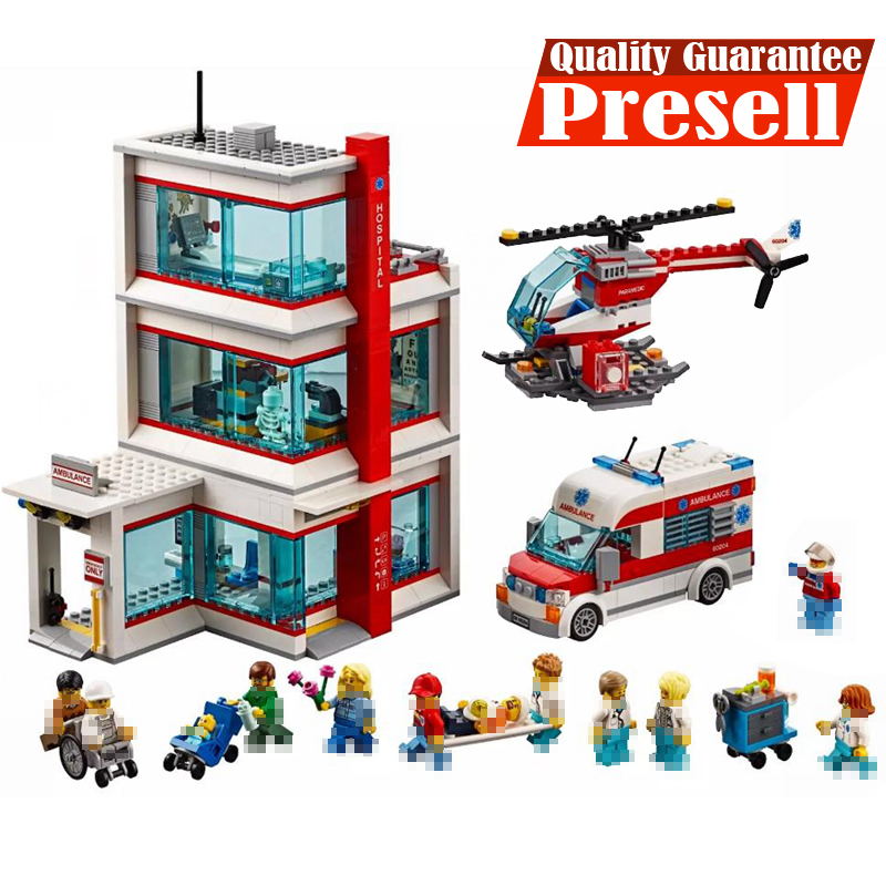 Lepin City Medical Hospital 02113 Building Blocks Bricks Kits Toys Compatible with 60204 legoings Model Toys For Children Gifts