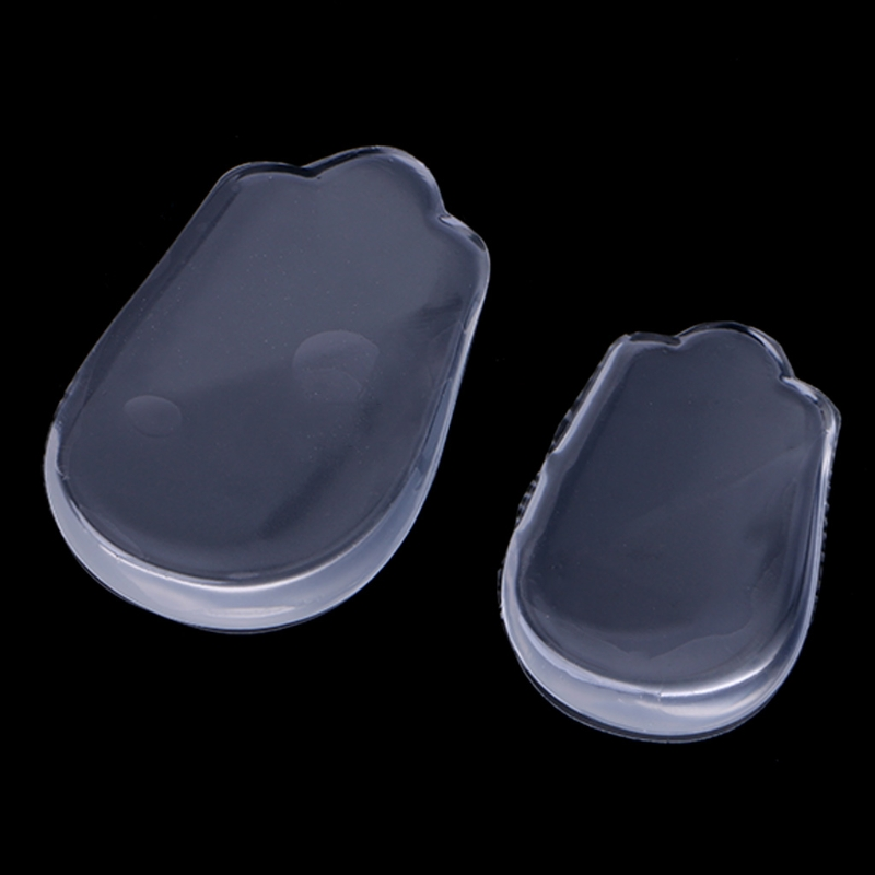 Silicone Gel Elastic Invisible Heel Pad Pain Relief Buffering Insole For O X Leg