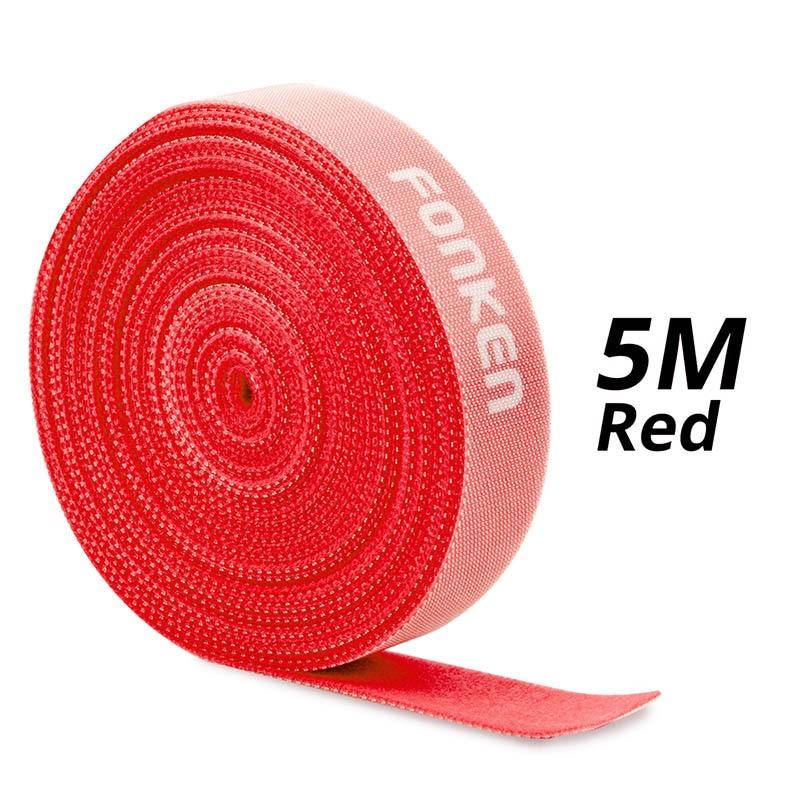 5m Red Velcro