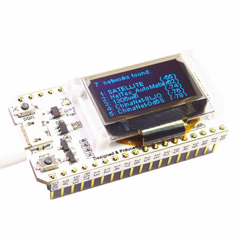 US $11 98 20% OFF|WIFI ESP32 Development Board 0 96 Inch Blue OLED Display  Bluetooth internet of things for Arduino with heat sink-in Home Automation