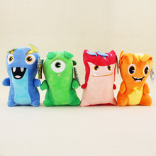 4pcs lot 19cm Anime Cartoon Slugterra Plush Toys Soft Stuffed Animal Dolls