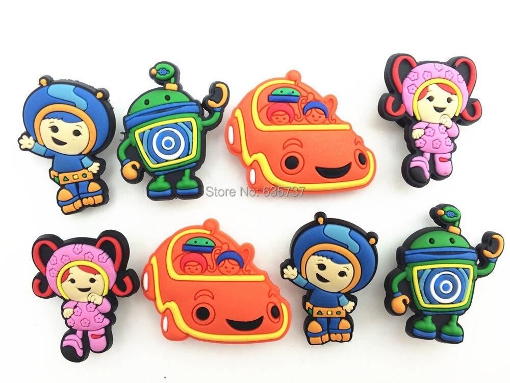 08f827ba9d5d0 8 Pcs PVC Team Umizoomi Shoe accessories Shoe Charms Shoe Decorations for Croc  Bracelet Wristband Kid Gift