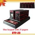 1 teclado 25 convidado pager coaster com screen display número de chamada garçom cliente chamada pager pessoal sistema de paginação montanha russa