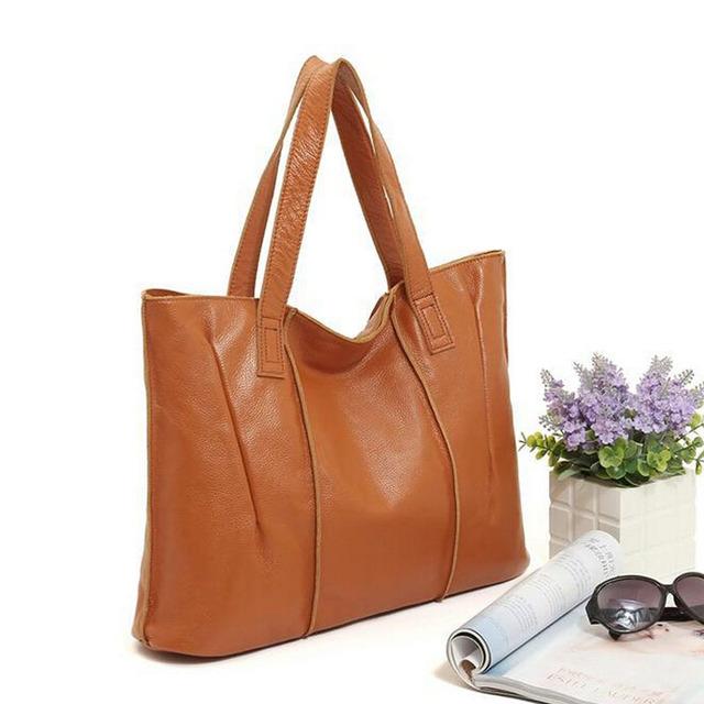 NIUBOA Woman Genuine Leather Handbag Large Cowhide Handbag Big Tote High Quality Women's Messenger Bag Shoulder Bag Bolsos Mujer