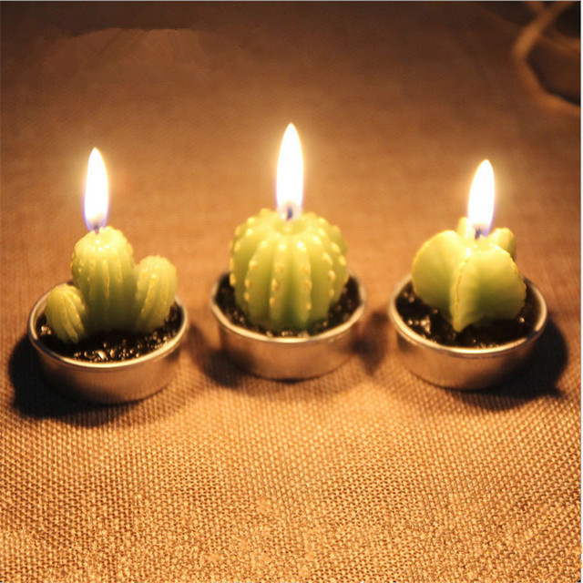 6pcs Set Creative Cactus Cake Cupcake Toppers Party Birthday Candle CandlesParty Supplies Favors And Gifts Q