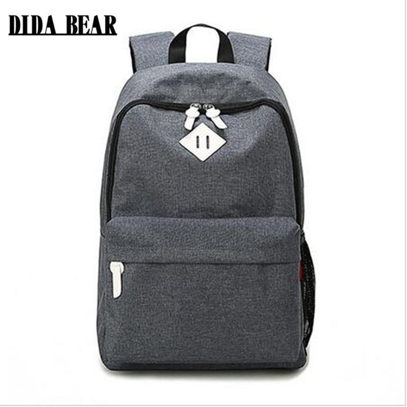 2016 Women Men Canvas Backpack School Bags For Teenagers Hiking Girls Boys Large Outdoor Travel Bags Bolsas Mochilas Feminina knitting