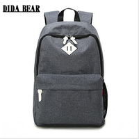2016 Women Men Canvas Backpack School Bags For Teenagers Hiking Girls Boys Large Outdoor Travel Bags