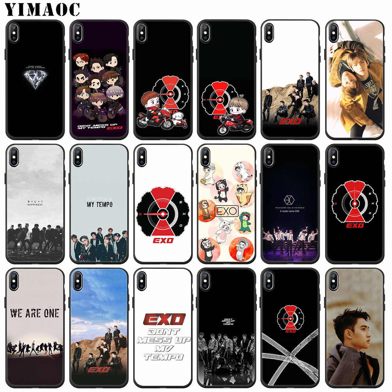 b09783610f9b7 YIMAOC EXO 5 Don't Mess Up My Tempo Soft Silicone Phone Case for iPhone XS  Max XR X 6 6S 7 8 Plus 5 5S SE 10 TPU Black Cover