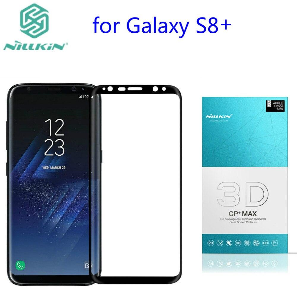 imágenes para Nillkin increíble 3d cp + max cobertura total nanómetro anti-explosión de cristal templado 9 h protector de pantalla para samsung galaxy s8 plus