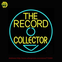 The Record Collector Outdoor Neon Sign Neon Bulb Handcrafted Glass Tube Affiche Light Outdoor Road Neon