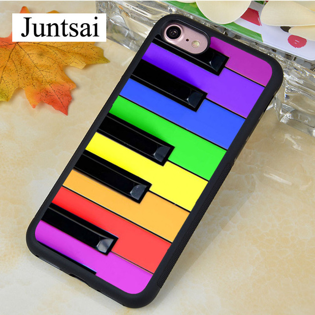 purchase cheap fea78 4b9d4 US $4.17 5% OFF|Juntsai RAINBOW PIANO KEYS Phone Cases for iphone 5s SE  Case Soft Rubber for iphone 5 case Cover For iPhone SE Case-in Fitted Cases  ...