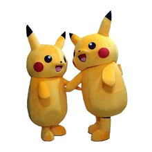 2015Top Grade Deluxe Pikachu Mascot Costume Cartoon Character Costumes Mascot Costume Fancy Dress Party Suit