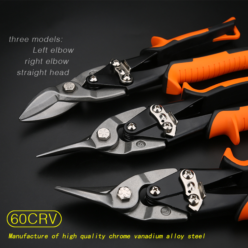 Tin Sheet Metal Snip aviation scissor iron plate cut shear household tool industrial industry work in Scissors from Tools