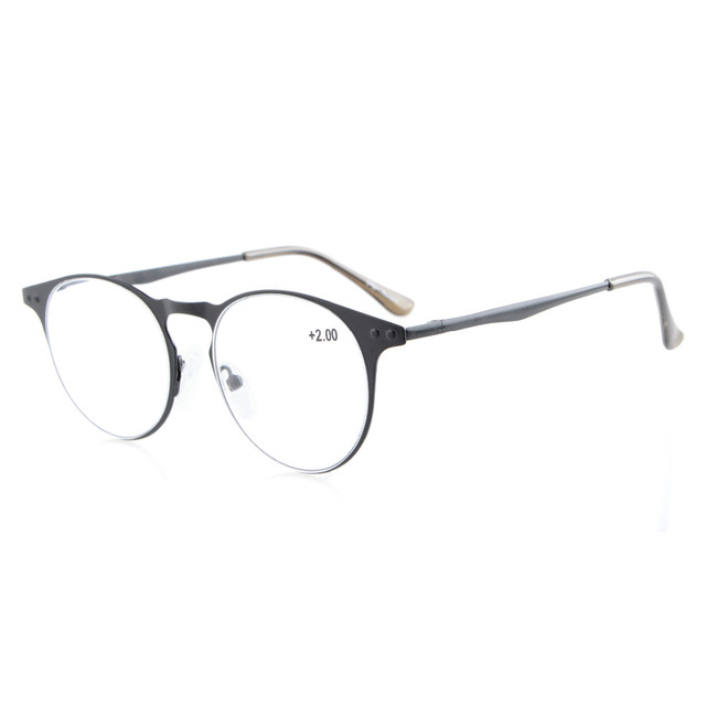 355642babb R15033 Eyekepper Readers Quality Metal Frame Spring Temples Round Reading  Glasses   Reading Sunglasses +0.50---+4.00