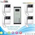 SmartYIBA квартира видеодомофон 4 3 дюймов видео домофон дверной звонок видеодомофон Комплект ночного видения 1 камера 4 монитора