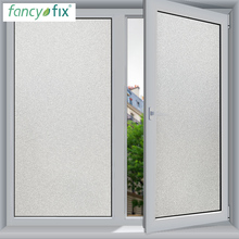 FANCY-FIX 45cm width Frosted Window Film Glass Sticker,DIY Office Bathroom Bedroom Privacy Film Static Cling No Glue Glass Film