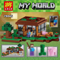 LELE My Worlds Minecraft The Mine Model Building Kits Blocks Bricks Creator Compatible With Legoed Boys