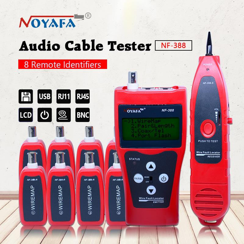 Top Quality Network cable tester Cable tracker RJ45 cable tester NF-388 English version Audio Cable Tester Red color цена